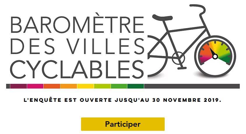 Baromètre des villes cyclables 2019, enquête ouverte jusqu'au 30 novembre